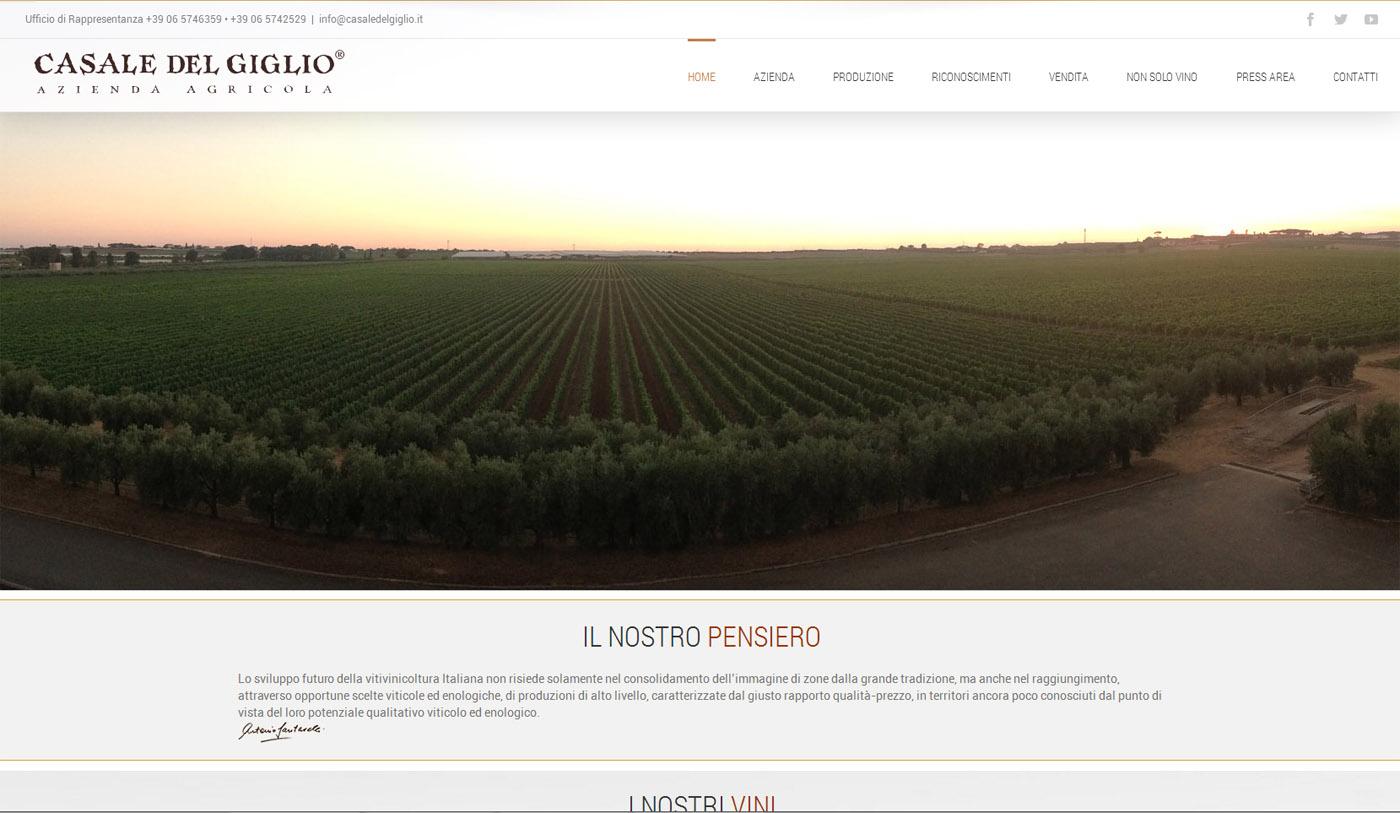 Restyling Web Casale del Giglio 2016