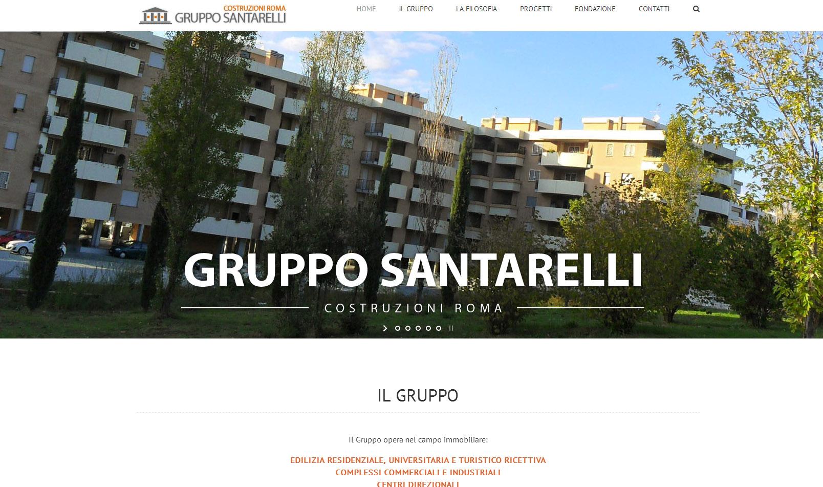 Gruppo Santarelli Roma  – Sito Web – Maggio 2017