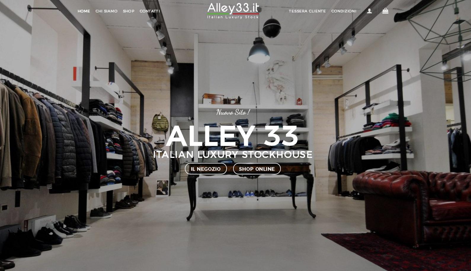Alley33 – Sito web ecommerce – Marzo 2018