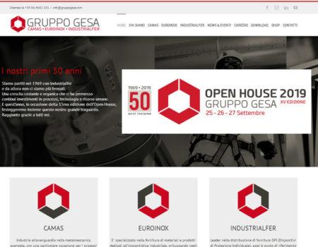 Gruppo Gesa – Restyling sito web – Novembre 2018