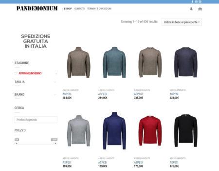 Pandemonium – Restyling Web – Febbraio 2019