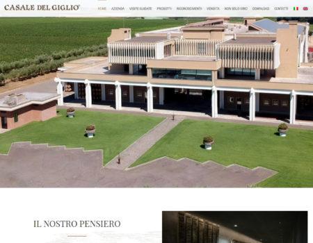 Casale del Giglio – Restyling sito web – Novembre 2019
